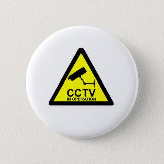 CCTV Notice 6 Cm Round Badge