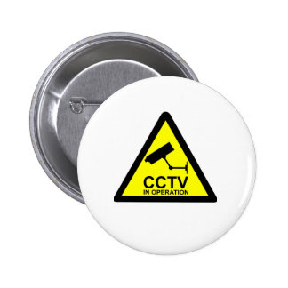 CCTV Notice 6 Cm Round Badge