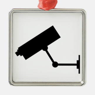 CCTV Symbol Silver-Colored Square Decoration