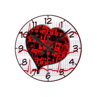 CCU HEART EKG MEDICAL SPECIALTIES WALL CLOCKS