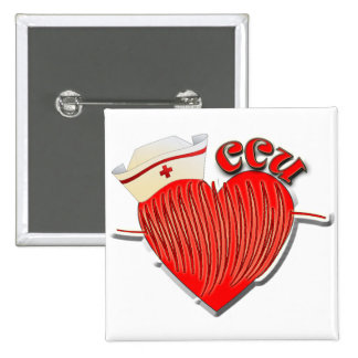 CCU NURSE CARDIAC CARE UNIT 15 CM SQUARE BADGE