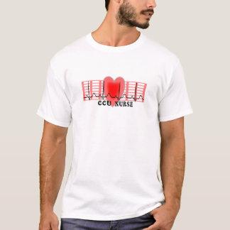 CCU Nurse Gift Ekg paper and Heart Design T-Shirt