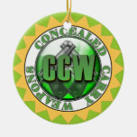 CCW CONCEALED CARRY WEAPON GUN ORNAMENT XMAS