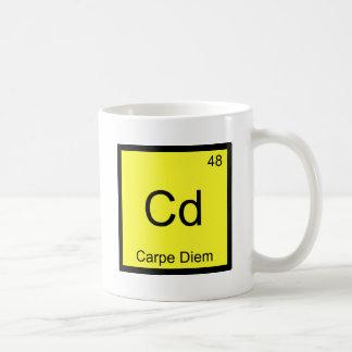 Cd - Carpe Diem Chemistry Element Symbol Funny Tee Mugs