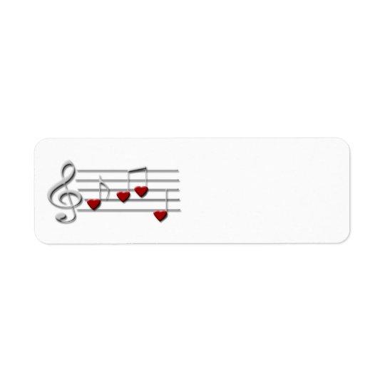 CD clef music custom label