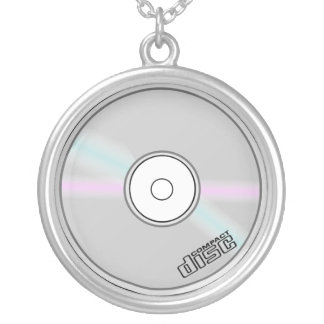 CD compact disc music necklace