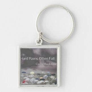 "CD Cover Art ""Hard Rains Often Fall"" Keychains"
