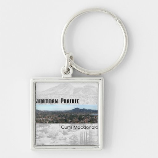 """CD Cover Art """"Suburban Prairie"""" Key Chain"""