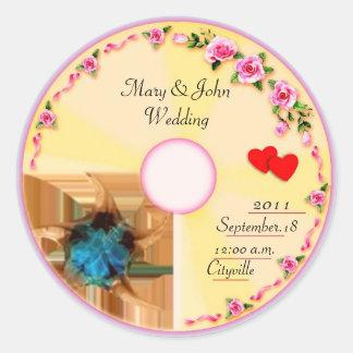 CD Label Wedding Favor Tag Round Sticker