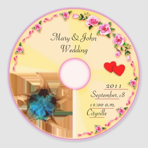 CD Label Wedding Favor Tag Stickers
