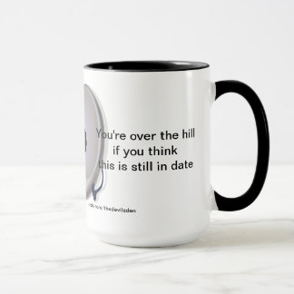 Cd Player Over The Hill 40th Birthday Coffee Mug