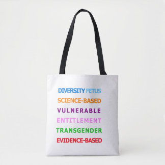 CDC banned words - colorful tote