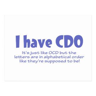 CDO POSTCARD