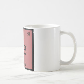 Ce - Cayenne Pepper Chemistry Periodic Table Spice Basic White Mug