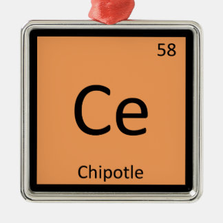 Ce - Chipotle Pepper Chemistry Periodic Table Christmas Ornament
