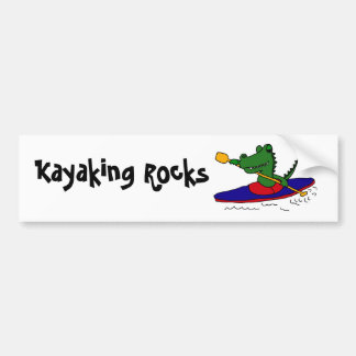CE- Funny Gator Kayaking Bumper Sticker
