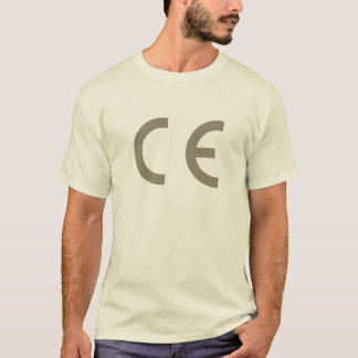 CE-mark-warm-gray-on-natural-tee T-Shirt