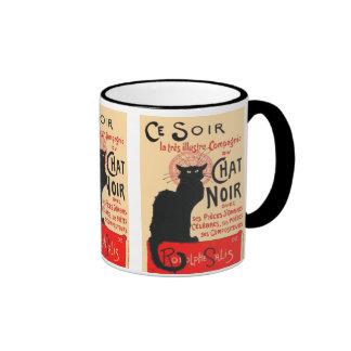 Ce Soir Le Chat Noir, Théophile Steinlen Ringer Mug