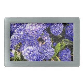 Ceanothus Flower Bee Belt Buckles