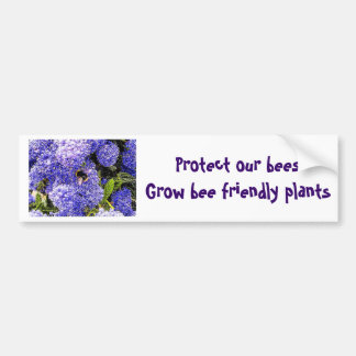 Ceanothus Flower Bee Bumper Sticker