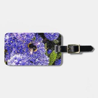 Ceanothus Flower Bee Luggage Tag