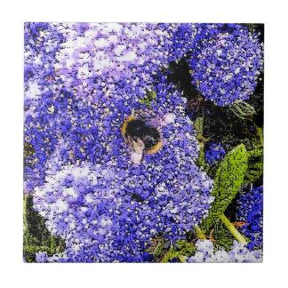 Ceanothus Flower Bee Tile