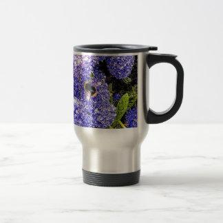 Ceanothus Flower Bee Travel Mug