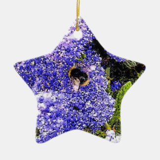 Ceanothus with a Bee Floral Digital Image Christmas Ornament