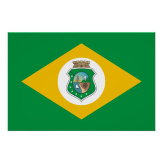 Ceara Brasil, Brazil flag Poster