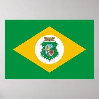 Ceara Brasil, Brazil flag Print