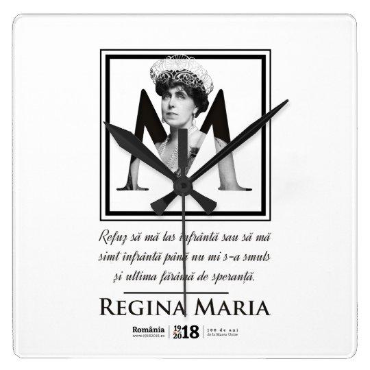 Ceas de perete Centenar 2018 – Regina Maria cu citat