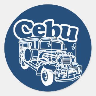 Cebu Jeepney Classic Round Sticker