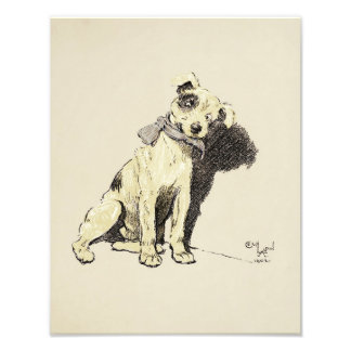 "Cecil Aldin 1902 ""Cute Terrier Dog"" Print Photograph"