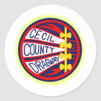 Cecil County Dragway copy Round Sticker