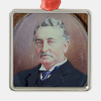 Cecil Rhodes Silver-Colored Square Decoration