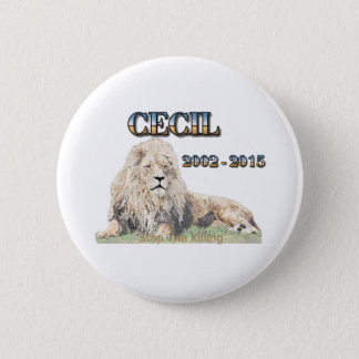 Cecil The Lion 6 Cm Round Badge