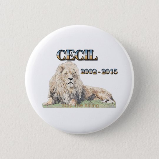 Cecil The Lion 6 Cm Round Badge