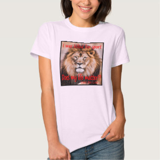 Cecil the Lion - I was killed for sport T Shirts
