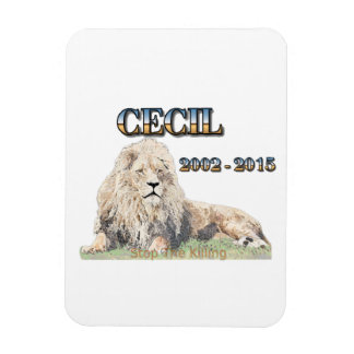 Cecil The Lion Rectangular Photo Magnet
