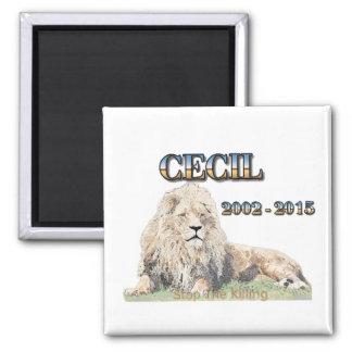 Cecil The Lion Square Magnet