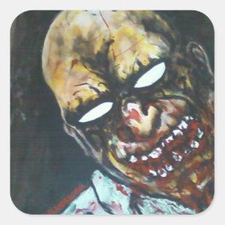 Cecil the Zombie Square Sticker