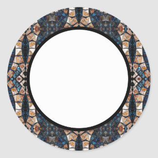 Cecina Mosaic Floor Symmetry Round Sticker