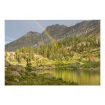 Cecret Lake with rainbow over Devil's Castle, Photograph