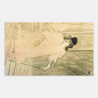 Cecy Loftus by Toulouse-Lautrec Rectangular Sticker