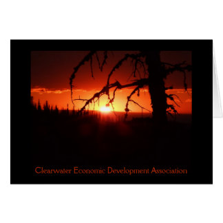 CEDA - Idaho Sunset Card. - Customized Greeting Card