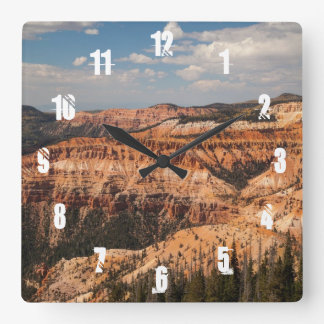 Cedar Breaks National Monument, Utah Square Wall Clock