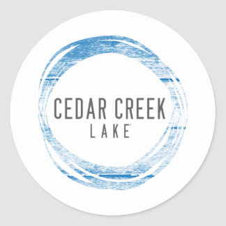 Cedar Creek LAke Round Sticker