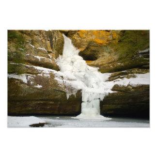 Cedar Falls in winter, Hocking Hills, Ohio Art Photo