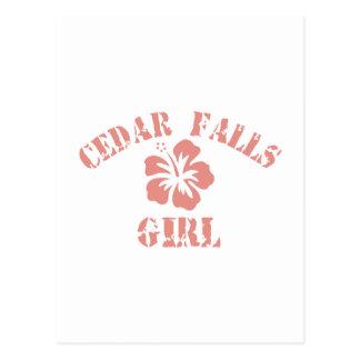 Cedar Falls Pink Girl Postcard