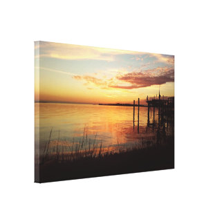 Cedar Key Florida Sunset 10 Canvas Print